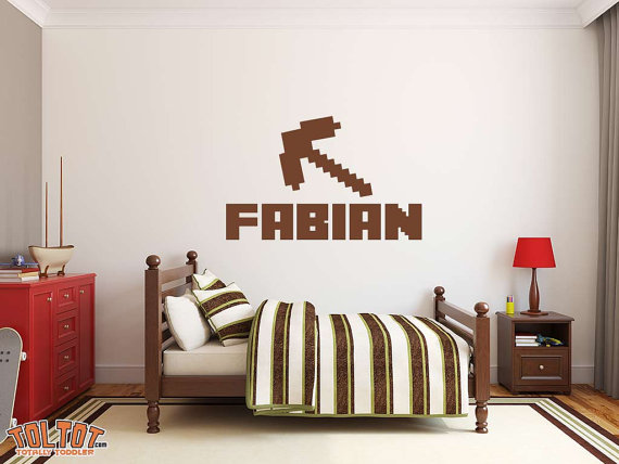 Minecraft custom kids removable decal Geekdecor