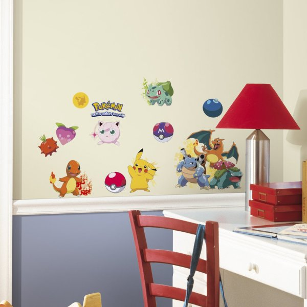 Pokemon Wall Decals On Wall - Geek Decor