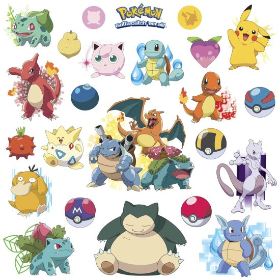Pokemon Wall Decals Collection - Geek Decor