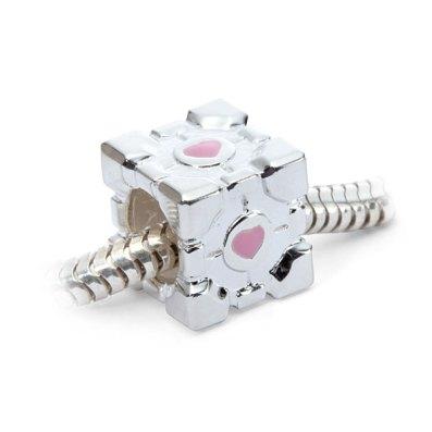 Portal Companion Cube Charm - Geek Decor
