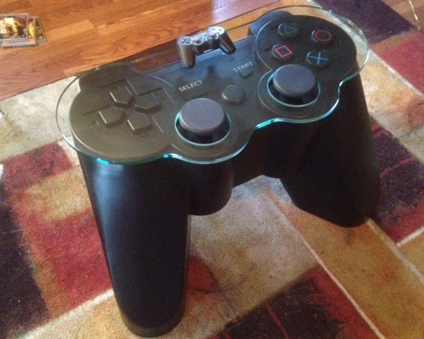 Customize Your Game Room With A Ps3 Controller Coffee Table Geek Decor