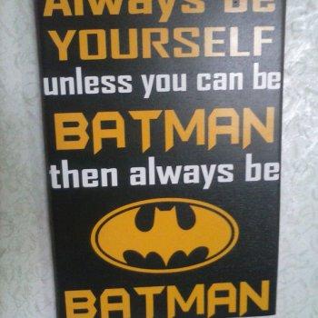 Batman Bedroom Sign - Geek Decor