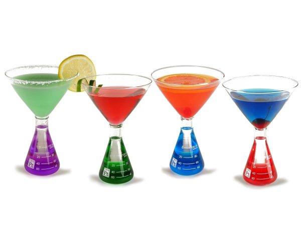 Erlenmeyer Flask Martini Glasses - Geek Decor