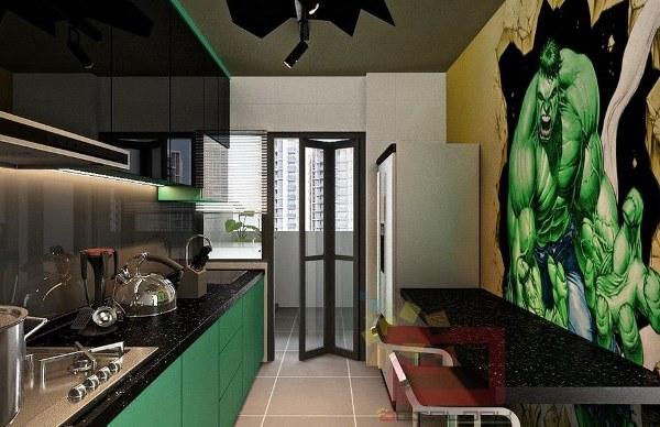 Avengers Apartment Kitchen - Geek Decor