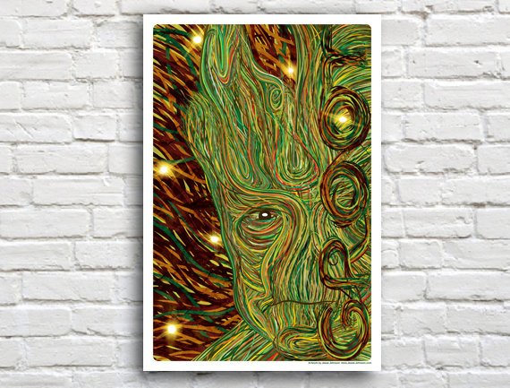 Geeky Posters Groot - Geek Decor