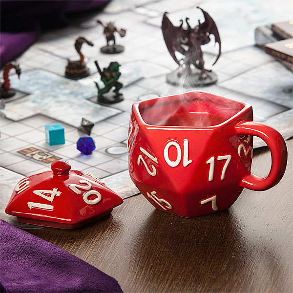 Here's A D20 Mug For All You Serious Nerds