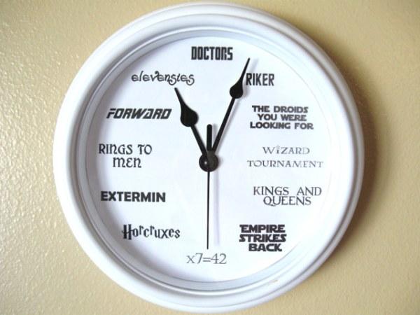Geek Nerd Clock - Geek Decor