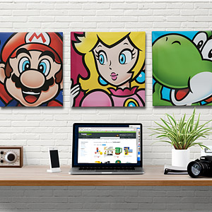 Mario Canvas Art Displayed - Geek Decor