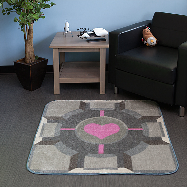 Portal-Companion-Cube-Rug-Geek-Decor-#2