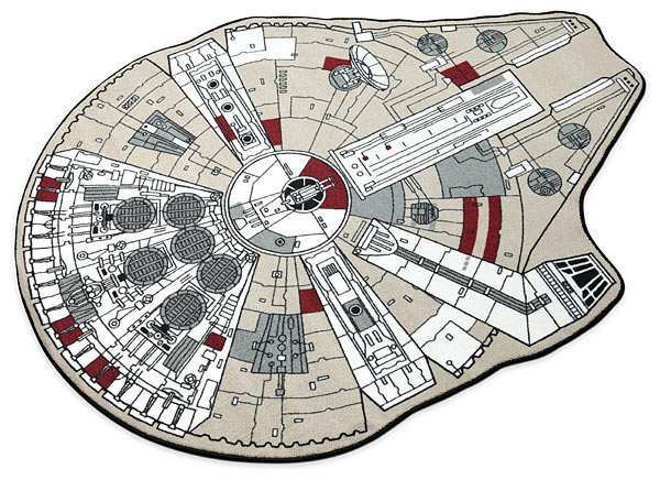 Millennium Falcon Printed Rug - Geek Decor