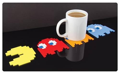 Pac-Man Coaster Set - Geek Decor