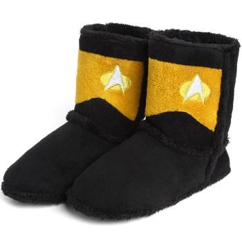 Star Trek Boot Slippers Lieutenant Commander - Geek Decor