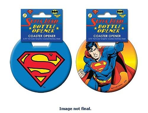 Superman Coaster Bottle Opener - Geek Decor