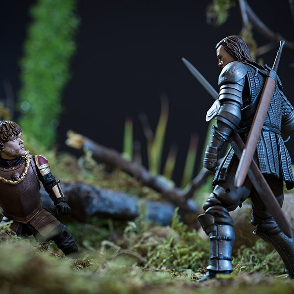 Tyrion Lannister Action Figure Action Shot 2 - Geek Decor