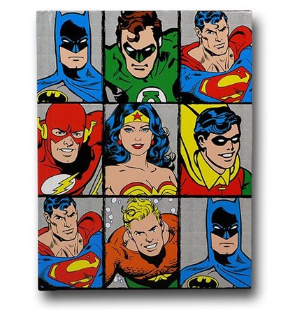 DC Heroes Grid Journal - Geek Decor