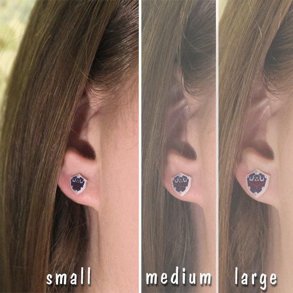 Hylian Shield Earrings sizing -- Geek Decor