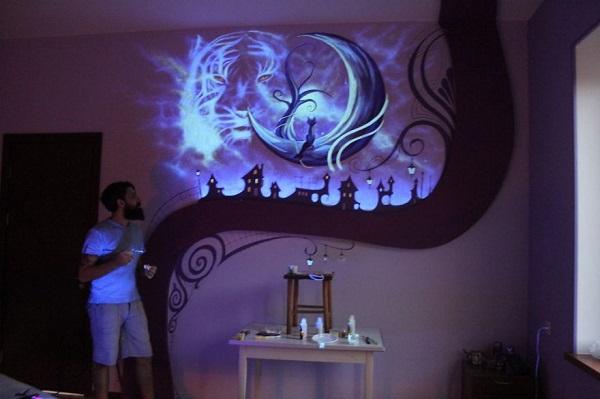 Dark Mural Medium Light - Geek Decor