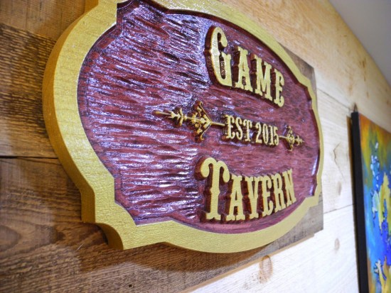 Game Tavern Sign- Geek Decor