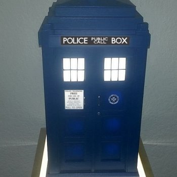Tardis Cabinets Table Lamp - Geek Decor