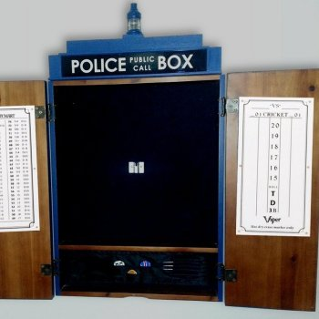 Tardis Cabinets Dart Board - Geek Decor