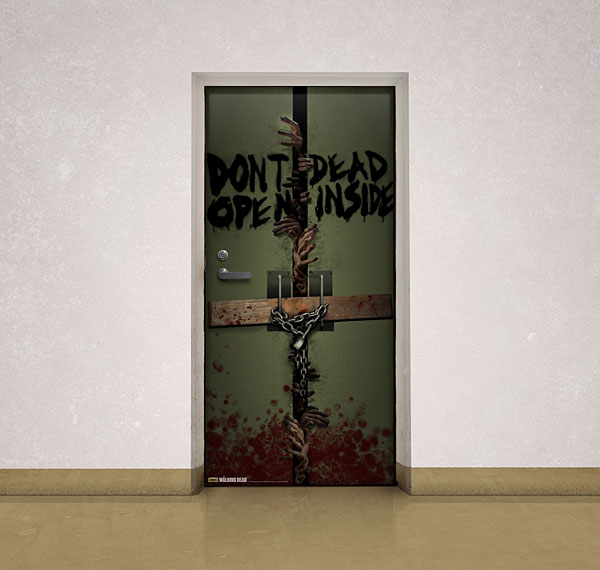 Walking Dead Door Cling - Geek Decor