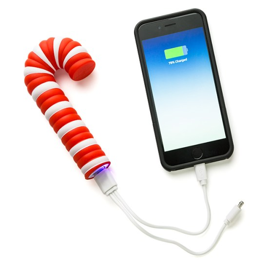 Candy Cane Power Bank - Geek Decor