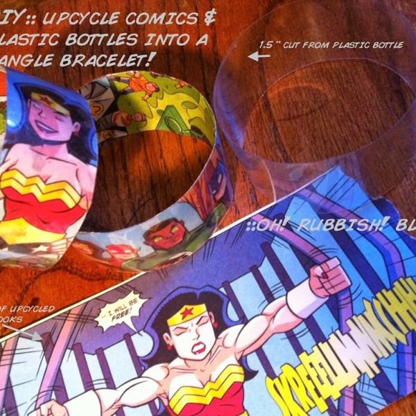 Comic Book Bracelets Putting Them Together - Geek Decor