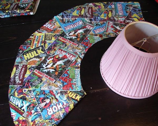 DIY Comic Book Lamp - Comic Cut-Out - Geek Decor