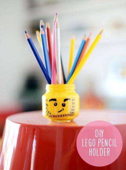 Lego Pencil Holder - Geek Decor