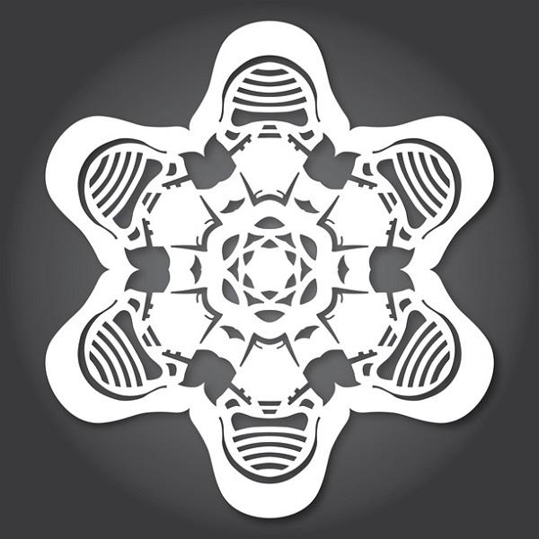 Star Wars Snowflakes Kylo Ren - Geek Decor