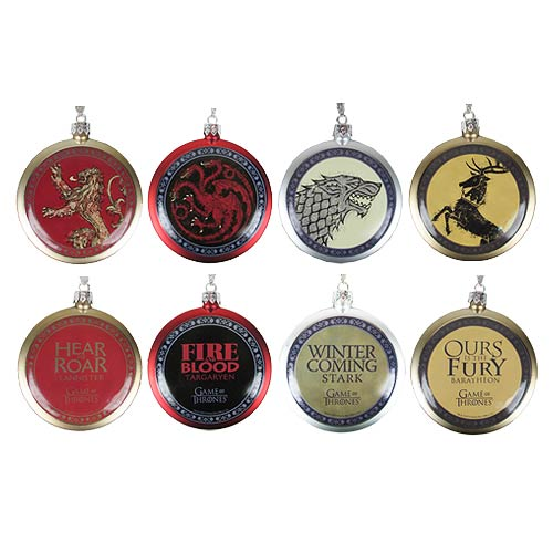 GOT House Crest Ornaments - Geek Decor