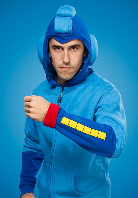 Mega Man Hoodie Broad View - Geek Decor