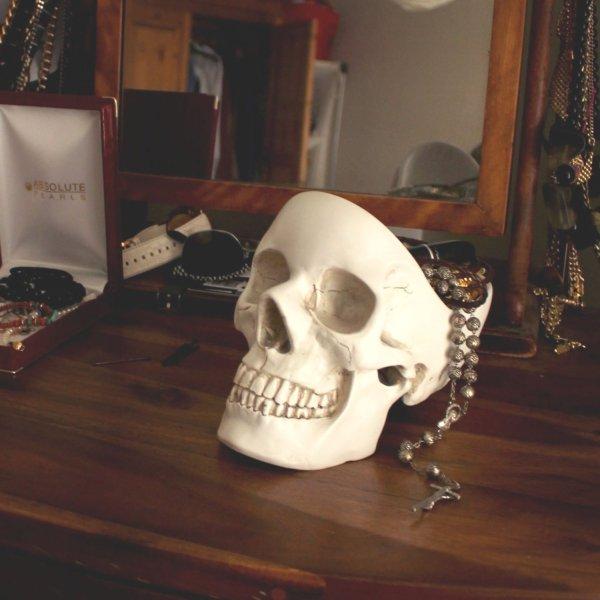 Skull Organizer - On Dresser - Geek Decor