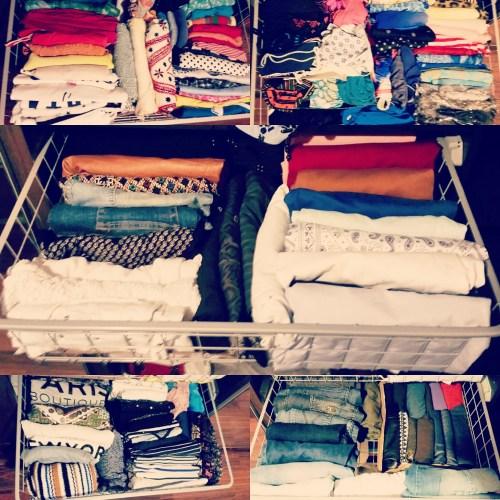 Il mio armadio organizzato con il metodo Konmari