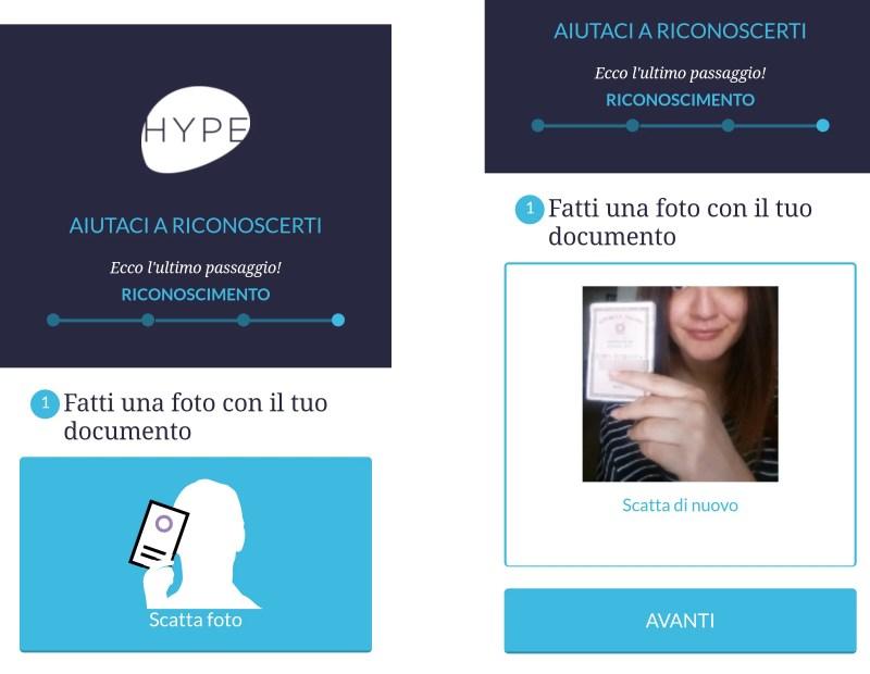 Hype: fai un selfie con la tua carta d'identità