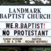 We'r Bapist! No Protestant.