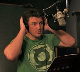 Nathan Fillion recording