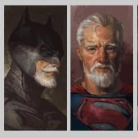 Como seria a aparência dos super-heróis da DC se fossem idosos