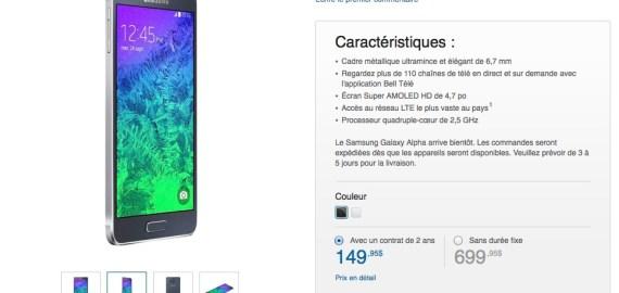 Samsung Galaxy Alpha - Bell Canada