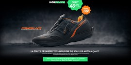 Powerlace - first auto-lacing shoe technology
