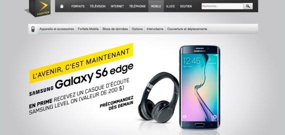 Samsung Galaxy S6 Edge - Videotron