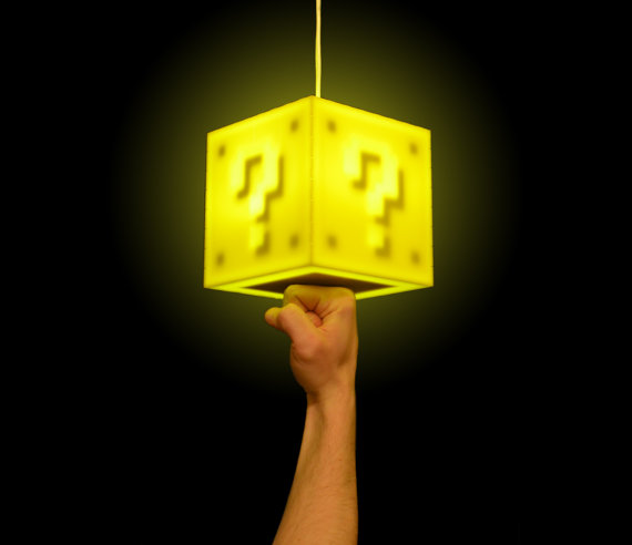 This is an interactive 8-bit lamp