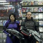 Jane Justice and David Carpenter at Gamestop in Yorktown, VA
