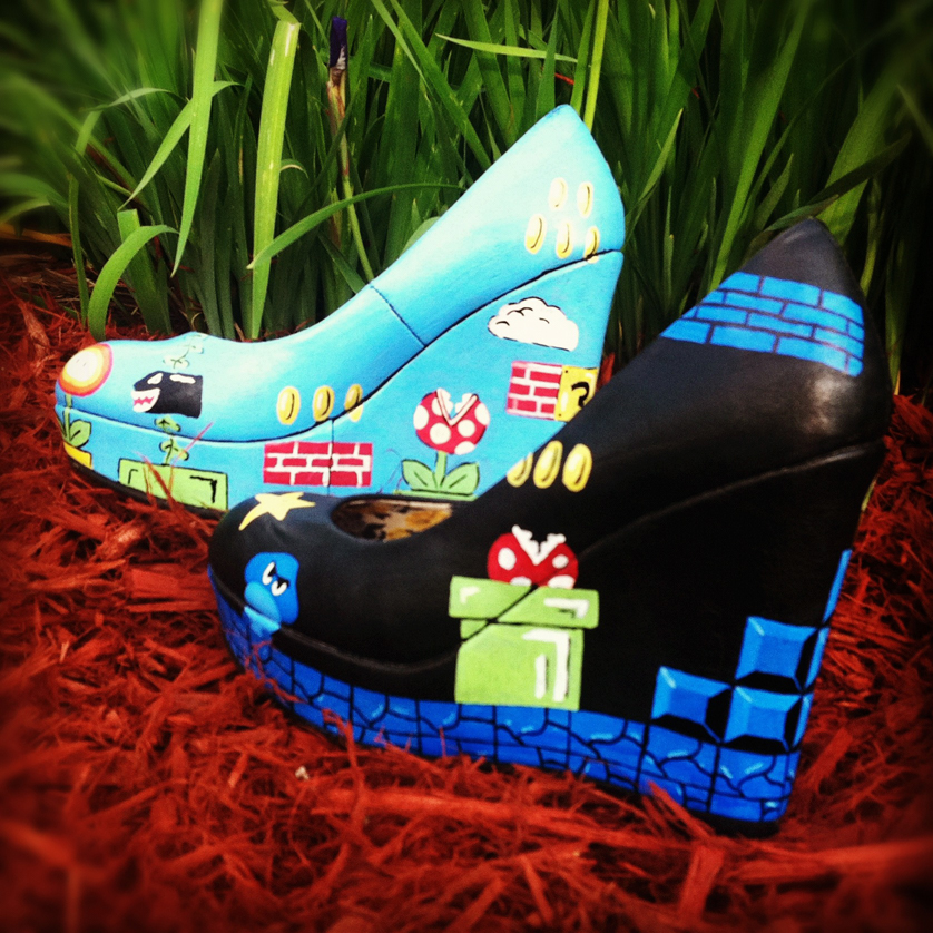 Mario Shoes by http://www.kristinaleigh.com/