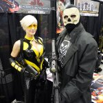 Heroes of the North - Hornet (Marie-Claude Bourbonnais) and Black Terror at Montreal Comic Con 2012
