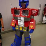 Cardboard and Duct Tape Optimus Prime at Montreal Comic Con 2012