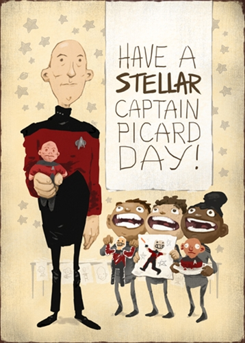 Vintage Picard Day  greeting cards  Aaron Alexovich