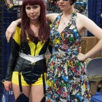 Silk Spectre and Lady in an Avengers-themed Dress - San Diego Comic-Con (SDCC) 2013