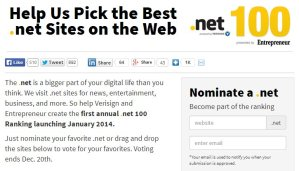 Vote for Us: Geeks are Sexy Nominated as Part of Entrepreneur's Top 100 .Net Sites of the Web