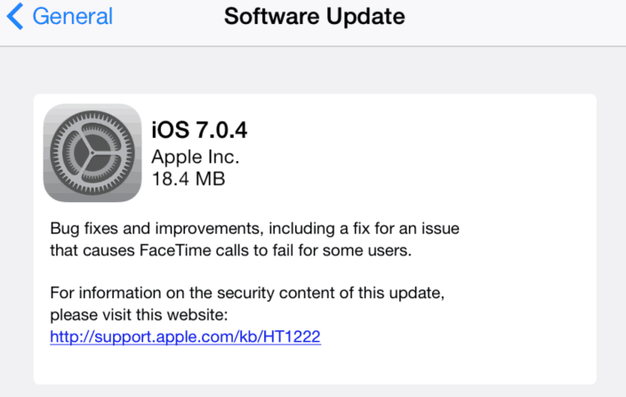 download iOS 7.0.4